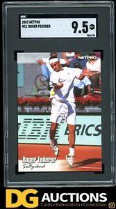 2003 NetPro Tennis Roger Federer Rookie RC #11 SGC 9.5 Hot! PSA BGS