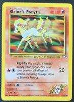 NM/M Blaine's Ponyta 63/132 Gym Heroes Unlimited Pokemon Card