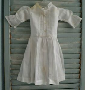 """AUTHENTIC ANTIQUE COTTON DRESS FOR 24"""" FRENCH OR GERMAN BISQUE DOLL LACE EDGING"""