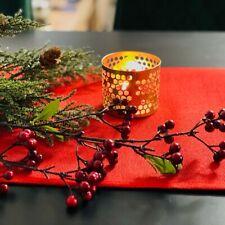 Plain Mat Rich Red Handmade Table Runner Mat Finish Simple Look