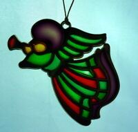 Angel Ornament Art Glass and Brass