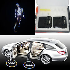 Walking dead zombie Magnetic car door CREE LED welcome laser projector light