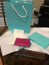 Tiffany & Co. Raspberry Leather Credit Card Holder Case Wallet Pebbled New w Box