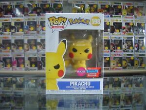 Funko Pop! Vinyl, Pokemon, Pikachu (Flocked) #598 NYCC 2020 In Pop Protector!