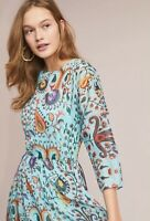 Anthropologie Allie Maxi Dress By Eva Franco Medium Retails 198.00 Blue Combo