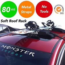 Soft Roof Racks Double Car Roof Surfboad Kayak Luggage Fishing Skis SUP Canoe
