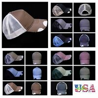 Plain Baseball Cap Fashion Hat Trucker Snapback Casual Hats Unisex Vintage Caps