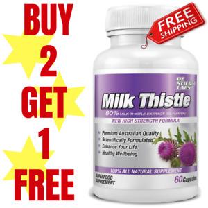 Milk Thistle 120 Capsules Liver Detox Glutathione Skin Whitening QTY DISC BUY