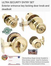 ULTRA SECURITY ENTRY SET Exterior entrance key locking door knob and deadbolt
