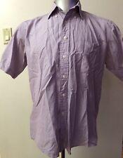 Giorgio Armani Purple Botton Down Short Sleeve Men Shirt Size Medium