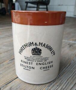 Fortnum & Mason LTD. Stoneware Cheese Pot /Crock w/ Lid