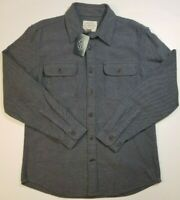 St Johns Bay Mens M L Navy Heather HEAVY QUALITY Flannel Long Sleeve MSRP $60