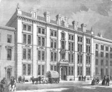LONDON. Offices and sale rooms in Mincing-Lane, City, antique print, 1860