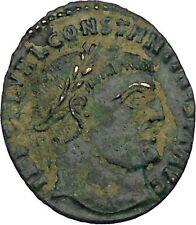 CONSTANTINE I the GREAT 313AD Ancient Roman Coin Zeus Jupiter Cult  i45972
