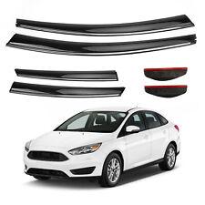 Car Window Sun Rain Guard Visors Kit 6PCS For Ford Focus 2012-2018 YU