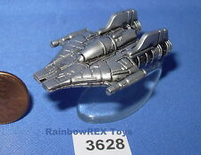 Star Wars Micro Machines A-WING STARFIGHTER Pewter Color with stand Fig. #2