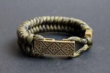 """""""Fern Flower & Alatyr"""" Slavic pagan paracord bracelet, Perun amulet, Alatyr"""