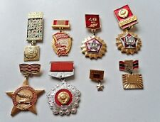 Lot of Eight Vintage Russian Badges