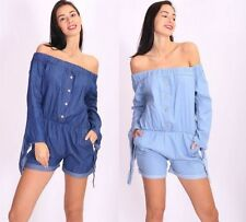 Cotton 3/4 Sleeve Regular Jumpsuits & Playsuits for Women