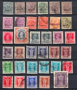 INDIA  SERVICE 1926 1971   lot of  100 stamps  on 2 pages british colonies