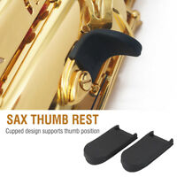 2Pcs Rubber Saxophone Thumb Rest Gel Cushion Pad Cover For Sax Thumb Hook Finger