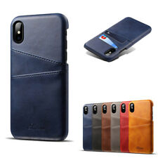 Slim Leather Card Holder Wallet Case for iPhone XS XR XS MAX X 8 7 6SPlus