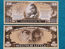 4 Bills:  MALCOLM X: African-American Minister ~ $1,000,000 One Million Dollars