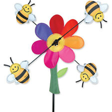 """Bumble Bees Staked Wind Whirli Wing 13"""" Whirligig Spinner 14...PR 21864"""