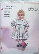 "THE DOLL INC ARTWORKS #DA1044 ~ CRYSTAL DRESS 28"" Doll Sewing Pattern"