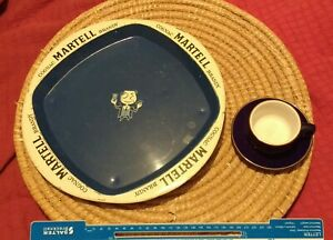 Vintage Beer Tray Martell Cognac Brandy and Martel Cup and Saucer VGC