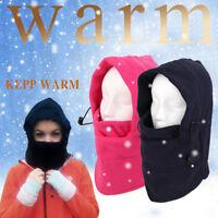 Men Women Winter Fleece Balaclava Hat Ski Motorcycle Neck Face Mask Hood Cap New