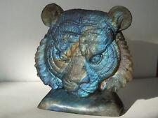Gravur Labradorit Löwe Löwenkopf Skulptur (006)