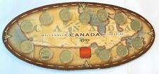 1999  Millennium Canada -13- 25cent all different coins on card.