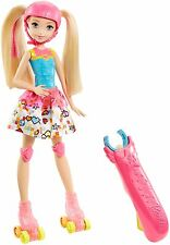 Barbie Video Game Hero Skating Doll Roller Skates Toy New