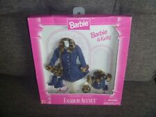 Mattel # 17292 Barbie & Kelly Matching Styles Coats Fashion Avenue NOS
