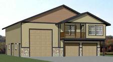44x48 Apartment with 2-Car 1-RV Garage - PDF FloorPlan - 1,645 sqft - Model 5Q
