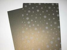 25 x Metallic Green Gold  Shimmer Snowflake Paper A4 120gsm  AM327