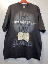 "Vintage ""Hustla"" T shirt size XL Rare Griffin active Wear Black Short Sleeve."