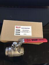 "1"" stainless steel ball valve 2000 wog 316 SS FNPT"