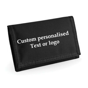 Custom Personalised Wallet Any Text for personal or business merch promotion