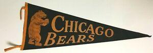 1940's Chicago Bears Felt Pennant Vintage Old Sports NFL Football Full Size