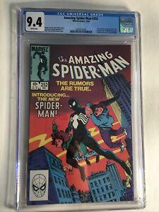 Amazing Spider-Man 252 CGC 9.4 NM White Pages 1st Black Costume