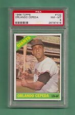 1966 Topps San Francisco Giants Orlando Cepeda # 132 PSA 8 NM-MT Low Pop Card !!