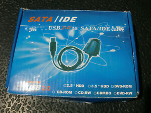 USB 2.0 to SATA IDE Hard Drive Cable for HD HDD Adapter + SATA to IDE Converter