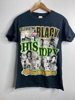 BARACK OBAMA Martin Luther Kings Rap Tee Black Sz S Double Sided Black History