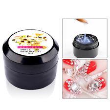 8ml Super Sticky Rhinestone Glue Adhesive Tip Manicure Nail Clear UV Gel Glitzy