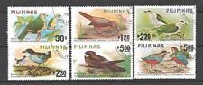 Oiseaux Philippines (66) série complète de 6 timbres oblitérés