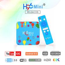 5pcs/lot dhl free h96 mini h6 tv box 2.4g/5g dual wifi Android 9.0 4G/32G 128G