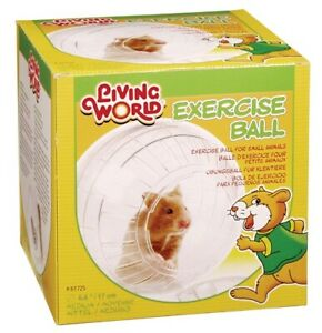 Living World Hamster Exercise Ball 17cm Medium Clear Play with Stand Syrian