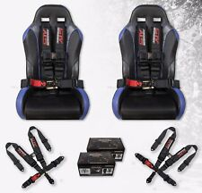 "Stv Motorsports Racing Seat Belt Harness 5 Point 3"" Polaris Rzr 2 Sets (Black)"